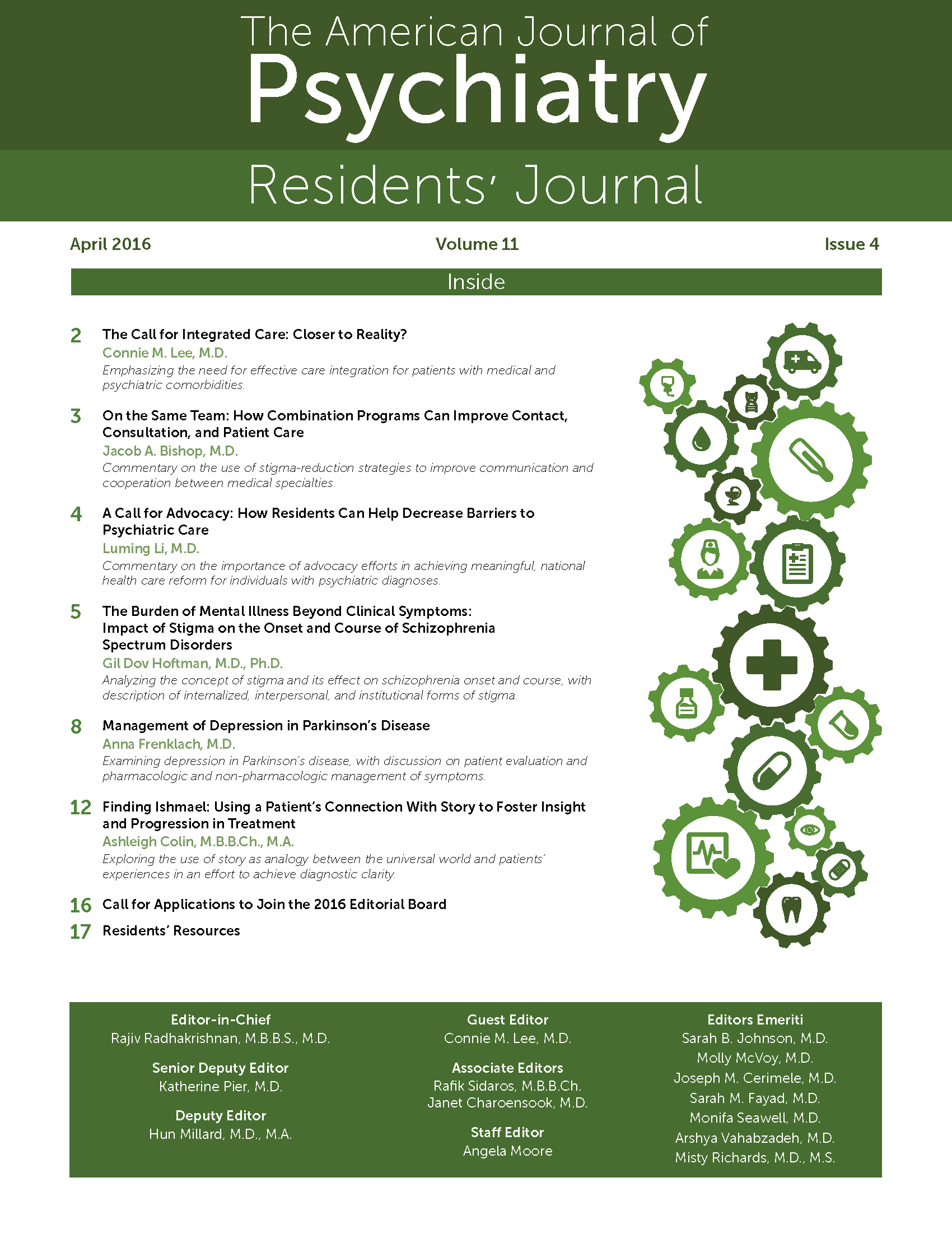Review of systems for psychiatric patients - April 2016 Residents Journal