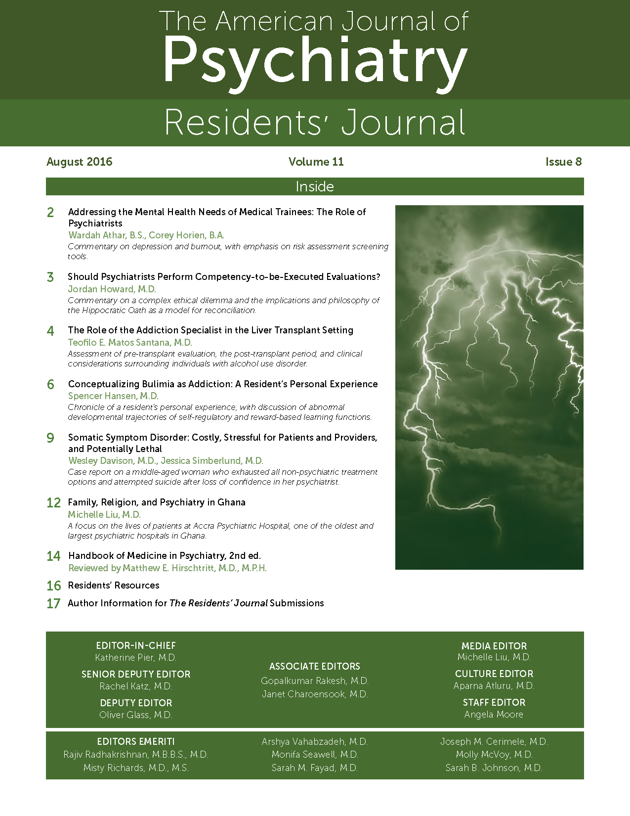 Review of systems for psychiatric patients - August 2016 Residents Journal