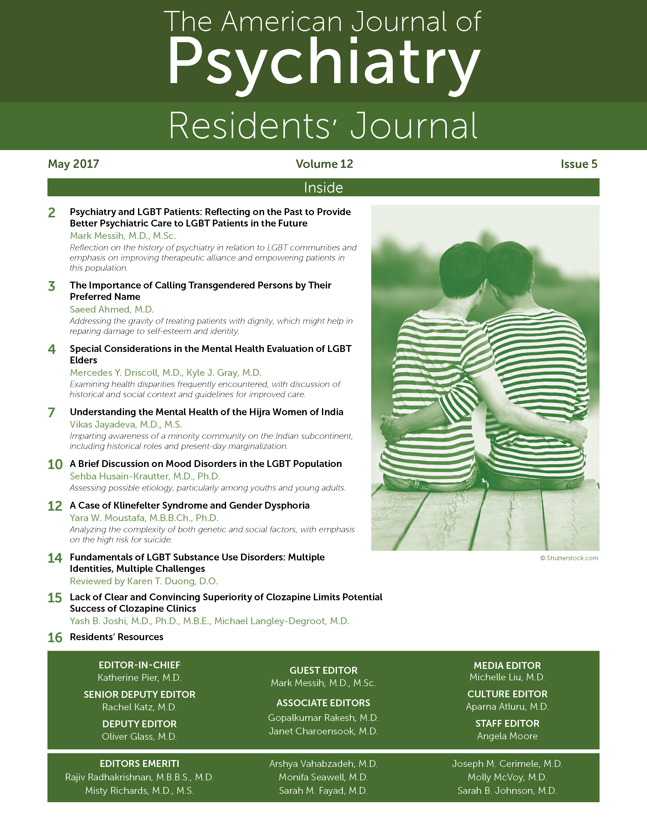 Review of systems for psychiatric patients - Editorial Psychiatry And Lgbt Patients